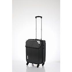 スーツケース 縦型トップオープン 34L TRAVELIST(トラベリスト)business topopen(ビジネストップオープン) ヘアラインブラック 76-35041 [TSAロック搭載]