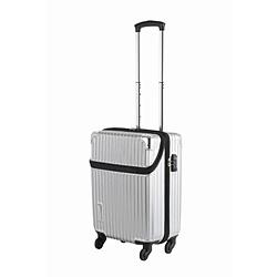 スーツケース 縦型トップオープン 34L TRAVELIST(トラベリスト)business topopen(ビジネストップオープン) ヘアラインシルバー 76-35044 [TSAロック搭載]