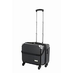 スーツケース 縦型トップオープン 30L TRAVELIST(トラベリスト)business topopen(ビジネストップオープン) ヘアラインブラック 76-35051 [TSAロック搭載]