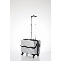 スーツケース 縦型トップオープン 30L TRAVELIST(トラベリスト)business topopen(ビジネストップオープン) ヘアラインシルバー 76-35054 [TSAロック搭載]
