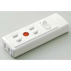 スイッチ付テーブルタップ (3個口・スイッチ・通電ランプ付) B-2041H-W ホワイト