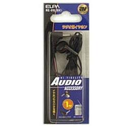 RE-01L ブラック ラジオ用片耳イヤホン