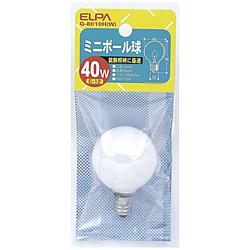 ミニボール球 G40[口金E12 /40W] G-8010H(W) ホワイト