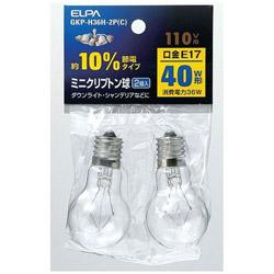 10%節電ミニクリプトン球(40W形・口金E17・110Vタイプ) GKP-H36H-2P(C)