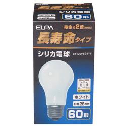 LW100V57W-W 長寿命シリカ電球(60形/全光束735lm/E26口金/ホワイト)