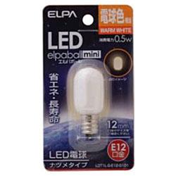 LED電球 「ナツメ形」(電球色・口金E12) LDT1L-G-E12-G101