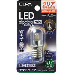 LED電球 「エルパボールミニ」(ナツメ形/電球色相当・口金E17) LDT1CL-G-E17-G116