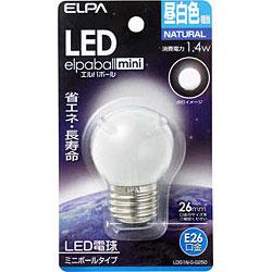 LED電球 「エルパボールミニ」(ミニボール形/昼白色相当・口金E26) LDG1N-G-G250