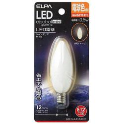 LED装飾電球 LDC1L-G-E12-G311 ホワイト [E12 /電球色 /1個 /シャンデリア電球形]