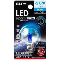 LED装飾電球 「LEDエルパボールmini」(ミニボール電球形[G30形]・0.5W/青色・口金E12) LDG1CB-G-E12-G238