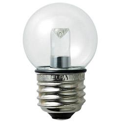 LED電球 「LEDエルパボールmini」(ミニボール電球形[G40形・防水仕様]・全光束55lm/クリア電球色相当・口金E26) LDG1CL-G-GWP256