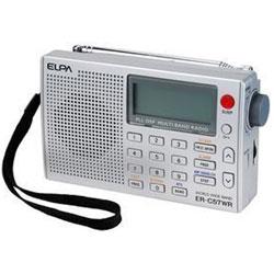 ELPA 【ワイドFM対応】MW/FMステレオ/SW(短波)/LW(長波)/AIR(エアバンド)ポータブルワールドラジオ ER-C57WR