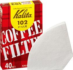 102濾紙 40枚入 コーヒー濾紙 ホワイト(酸素漂白)