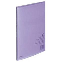 クリヤーブック 「キャリーオール(固定式)」(A4判・10P/紫) ラ-2V