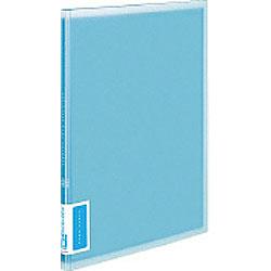 クリヤーブック(A4サイズ・固定式/縦10枚ポケット・ブルー) ラ-V10B