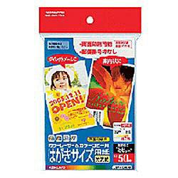 カラーレーザー&カラーコピー用紙 光沢 郵便番号枠無 (はがきサイズ・50枚) LBP-FG3630