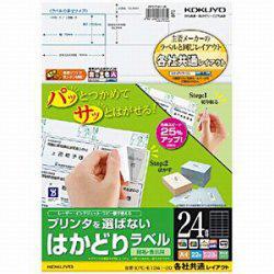 プリンタを選ばない はかどりラベル 121g/m2 (A4サイズ:24面・22シート:528片) KPC-E1241-20