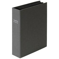 折りたたみアルバム 布表紙160枚収納(グレー)ア-TPL-161-N