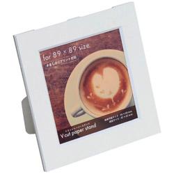 Vカットペーパースタンド 差込式 ましかく89サイズ(ホワイト) VPS89W