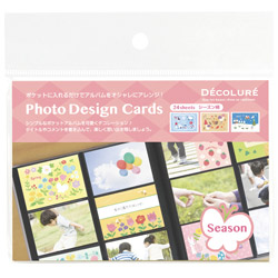 DECOLURE フォトデザインカード シーズン24枚入り PTCL-08 PTCL-08
