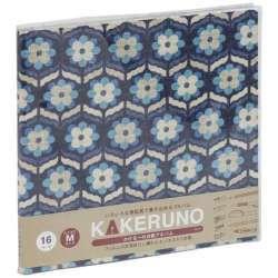 ファブリックスタイル ブック式 かける〜の台紙 スクエアM レトロフラワー(ブルー) アKMFB165B