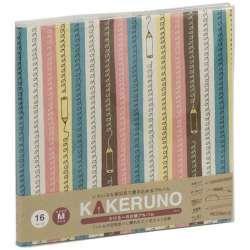 ファブリックスタイル ブック式 かける〜の台紙 スクエアM カラフルエンピツ(ピンク) アKMFB166P
