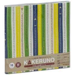 ファブリックスタイル ブック式 かける〜の台紙 スクエアM カラフルエンピツ(グリーン) アKMFB166G