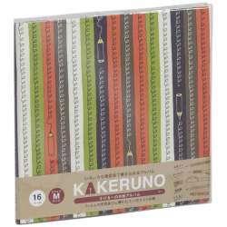 ファブリックスタイル ブック式 かける〜の台紙 スクエアM カラフルエンピツ(オレンジ) アKMFB166OR