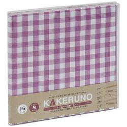 ファブリックスタイル ブック式 かける〜の台紙 スクエアS ギンガムチェック(ピンク) アKSFB134P