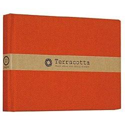 ブック式 布クロスフリーアルバム「テラコッタ」(L判1段/レッド) TER-L1B-110-R