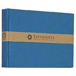 ブック式 布クロスフリーアルバム「テラコッタ」(L判1段/ブルー) TER-L1B-110-B