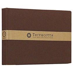 ブック式 布クロスフリーアルバム「テラコッタ」(L判1段/ブラウン) TER-L1B-110-BR