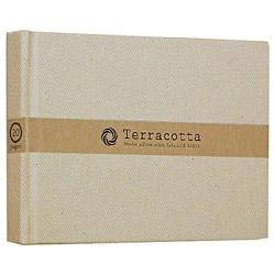 ブック式 布クロスフリーアルバム「テラコッタ」(L判1段/ホワイト) TER-L1B-110-W
