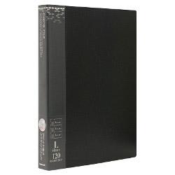 アS-MY-141-D ブラック バインダー式ポケットアルバム ブラック