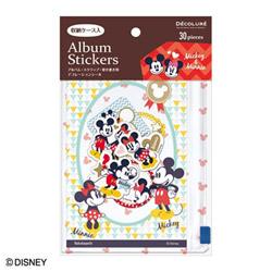 DECOLURE(デコルーレ) ディズニーキャラクター アルバムステッカー シール (ミッキーマウス) ATS-D101-1