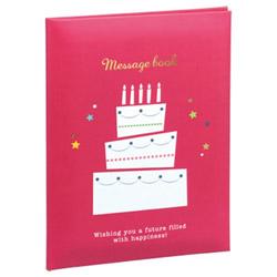 メッセージブック B6サイズ レッド MBB6-301-R