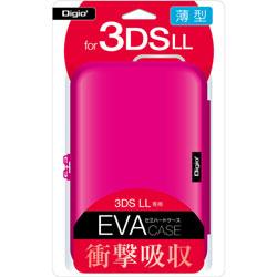 ニンテンドー3DS LL用 セミハードケース ピンク 【3DS LL】 [SZC-3DSLL01P]