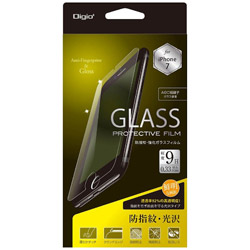 iPhone 7用 ガラスフィルム 防指紋 光沢 SMF-IP162GFLS