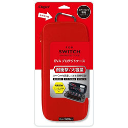 ニンテンドーSWITCH専用 耐衝撃/大容量 EVA プロテクトケース レッド [Switch] [SZCSWI01R]