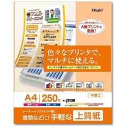 レーザー・インクジェット用紙 上質紙 0.09mm (A4サイズ・250枚) IJPP2A425