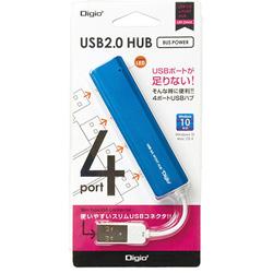 USBハブ UH-2444BL ブルー [USB2.0対応 /4ポート /バスパワー]