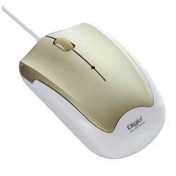 MUSUKT124GL(3ボタン・ゴールド) 有線BlueLEDマウス[USB・Mac/Win] 静音