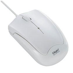 MUSUKT124W(3ボタン・ホワイト) 有線BlueLEDマウス[USB・Mac/Win] 静音