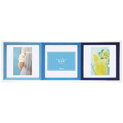 スクエアコレクション L判3面正方形フレーム(ブルー) フ-TP-220-B