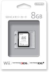 【純正】SDHCメモリーカード 8GB【Wii】 [RVL-A-SD4]