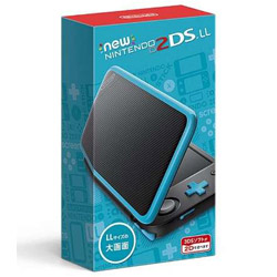 [Used] New Nintendo 2DS LL body black × Turquoise