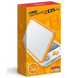 [Used] New Nintendo 2DS LL body white × orange
