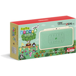 [Used] New Nintendo 2DS LL body Tobidase Animal Crossing amiibo + pack