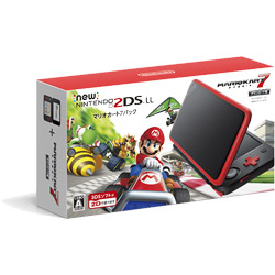 [Used] New Nintendo 2DS LL body Mario Kart 7 pack