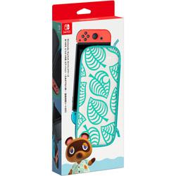 Nintendo(任天堂) Nintendo Switchキャリングケース あつまれ どうぶつの森エディション 〜たぬきアロハ柄〜(画面保護シート付き) HAC-A-PSSAG